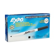 Expo® Dry Erase Markers, Fine Point, Black, 12/pk (84001)