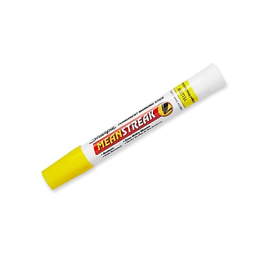 Sharpie® Mean Streak® Permanent Marking Stick, Yellow, (85005)