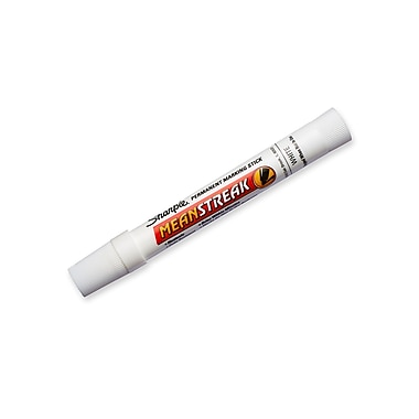 Sharpie® Mean Streak® Permanent Marking Stick, Bullet Tip, White Ink, (85018)