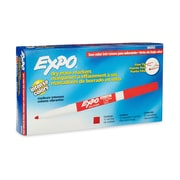 Expo® Low Odor Dry Erase Marker, Fine Point, Red, 12/pk (86002)