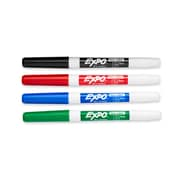 Expo® Low Odor Fine Tip Dry-Erase Markers, Assorted, 4/pk (86074)