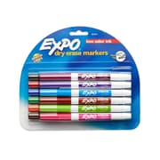 Expo® Low Odor Dry-Erase Markers, Fine Tip, Assorted Colors, 12/pk (86603)