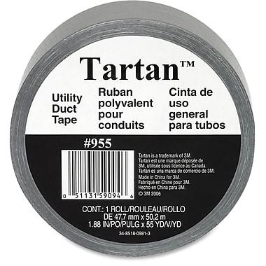 Tartan – Ruban polyvalent pour conduits, 1,89 po (48 mm) de largeur x 54,9 vg (50,2 m) de longueur, argent