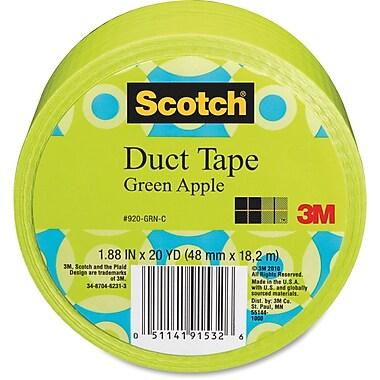 Scotch Colours/Patterns Duct Tape, Green Apple