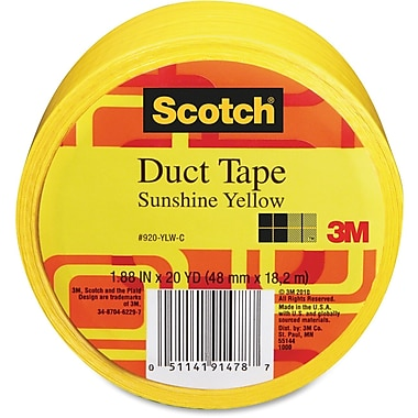 Scotch Colours/Patterns Duct Tape, Sunshine Yellow