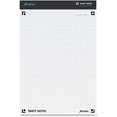 Ampad – Bloc-notes quadrillé graphique 4x4 po Shot Note, 40 feuilles/bloc
