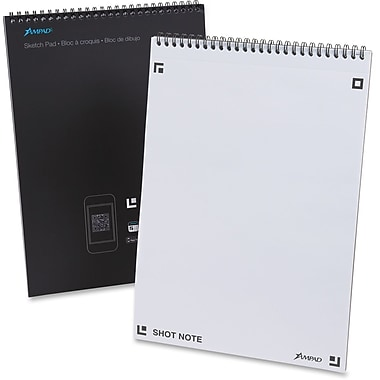 Ampad Shot Note Wirebound Sketch Pad, 40 Sheets/Pad