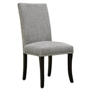 Armen Living Accent Nail Side Chair (Set of 2); Charcoal