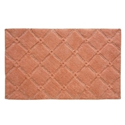 Jessica Simpson Home Trellis Bath Rug; Burnt Coral