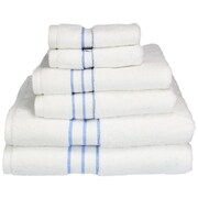 Simple Luxury Superior Hotel 6 Piece Towel Set; Light Blue