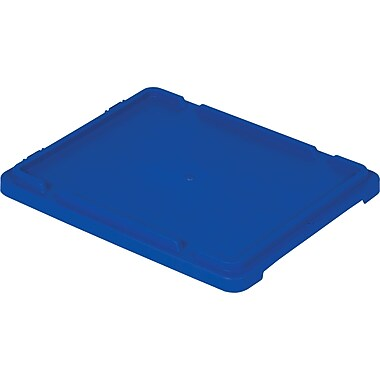 Lewis Polylewton Stack-N-Nest® Containers Covers for SN2117-6, Blue, 5/Pack