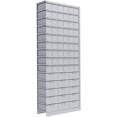Metalware – Étagère sans boulons RK942, 15 tablettes, 36 x 18 x 88 po, gris pâle