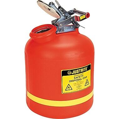 Justrite® Polyethylene Liquid Disposal Cans, 12