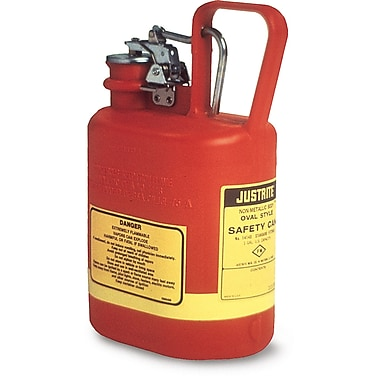 Justrite® Type I Polyethylene Safety Cans, 1 Gal, 7 5/8