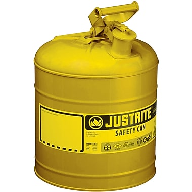Justrite® Type I Safety Cans without Funnel, 2 Gal, 9 1/2