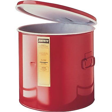 Justrite® Dip Tanks, 5-Gallon Steel Dip Tank with Hdpe Liner, 13 3/4