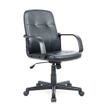 CorLiving WHL-100-C Leatherette Office Desk Chair, Black
