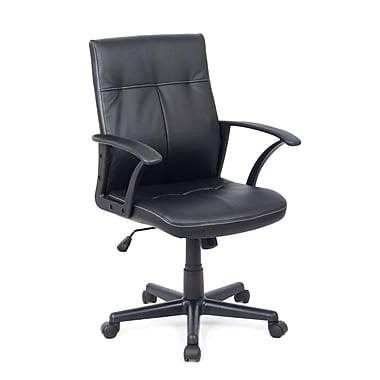 CorLiving WHL-101-C Leatherette Office Desk Chair, Black