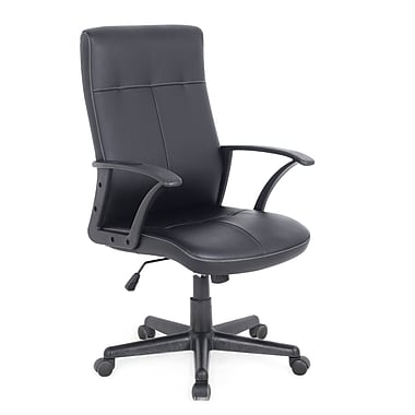 CorLiving WHL-102-C Leatherette Office Desk Chair, Black