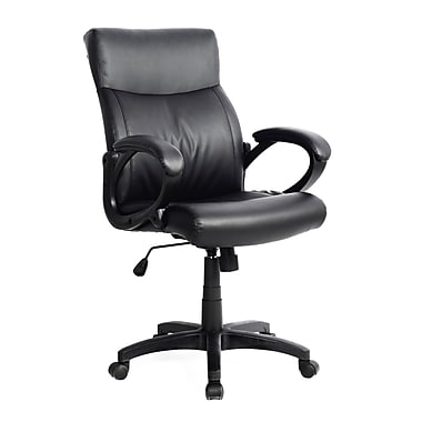 CorLiving WHL-106-C Leatherette Managerial Office Chair, Black