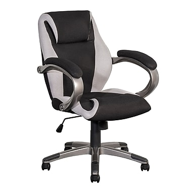 CorLiving WHL-301-C Leatherette and Mesh Managerial Office Chair, Black