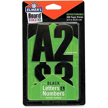 Elmer's Letters, Numbers and Symbols Stickers in Black, 308/Pack