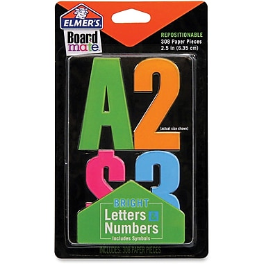 Elmer's Letters, Numbers and Symbols Stickers in Bright Colours, 308/Pack