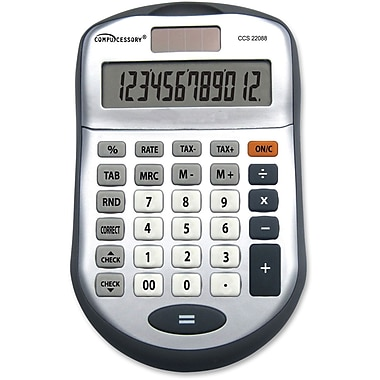 Compucessory 22088 12-Digit Desktop Calculator