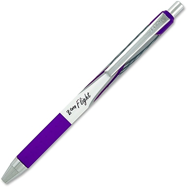 Zebra Z-Grip Flight Retractable Pens, 1.2mm, Violet, Each