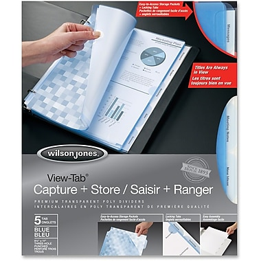 Wilson Jones Vue-Tab Capture/Store Poly Dividers