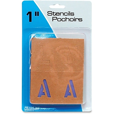 U.S. Stamp & Sign Brown Paper Lettters/Numbers Stencils, 1