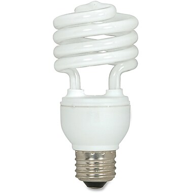 Satco – Ampoule T2 fluorescente en spirale, 18 W, 3/pqt