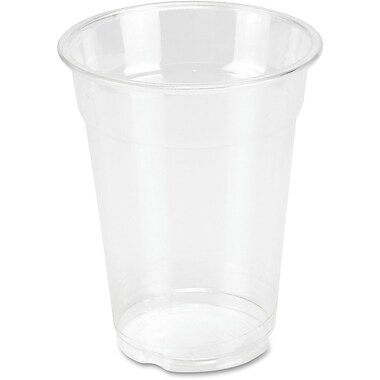Genuine Joe Clear Plastic Cups, 9 oz., 50/Pack