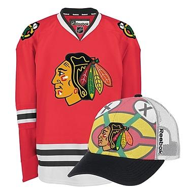 Chicago Blackhawks Men's Home Jersey & Draft Caps Bundle