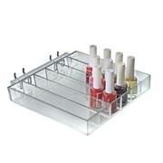 Azar Clear Each Six Compartment Nail Polish Tray 1.25 x 8.62-inch
