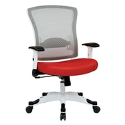 Space Seating Pulsar Mesh Computer and Desk Office Chair, Fixed Arms, Red (317W-W1C1F2W-9)