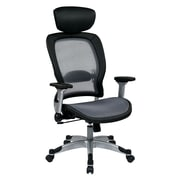 Space Seating AirGrid Mesh Computer and Desk Office Chair, Fixed Arms, Black (327-66C61F6HL)