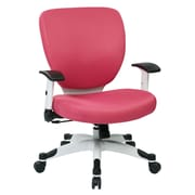 Space Seating Pulsar Mesh Computer and Desk Office Chair, Fixed Arms, Pink (5200W-261)