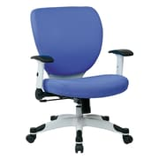 Office Star Space Seating Pulsar White Finish Frame Managers Chair, Dove Sky Fabric