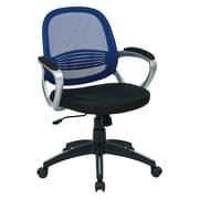 OSP Designs Bridgeport Task Chair, Navy Screen Back