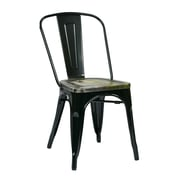 OSP Designs Bristow Metal & Wood Chair with Vintage Seat, Ash Cameron