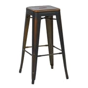OSP Designs Bristow 30.25'' Industrial Foot Ring/Bar Bar Stool, Antique Copper (BRW3030A4-AC)