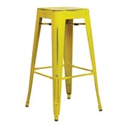 OSP Designs Bristow 30-inch Metal Barstool, Antique Yellow with Blue Specks, 2 pk