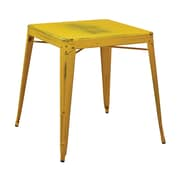 OSP Designs Metal Bristow Table, Antique Yellow