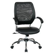 Work Smart Designer Screen Back Managers Metal & Mesh Chair, Black