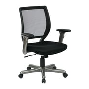 Work Smart Woven Mesh Chair, Black