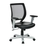 Work Smart Woven Mesh Chair, Black & Silver