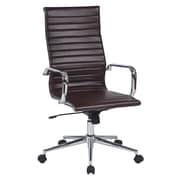 Work Smart High Back Metal & Polyurethane Office Chair, Chocolate
