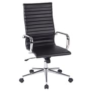 Work Smart High Back Metal & Polyurethane Office Chair, Black