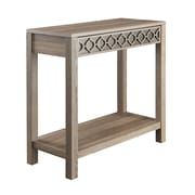 OSP Designs Wood & Metal Foyer Table, Greco Oak